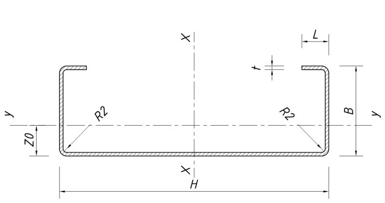 3f029c339ec3 Расчётные характеристики профилей и термопрофилей ЛСТК. Холоднокатанные  стоечные профили ...
